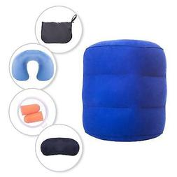 iTreasure Inflatable Travel Foot Rest Pillow Set Foot Rest N