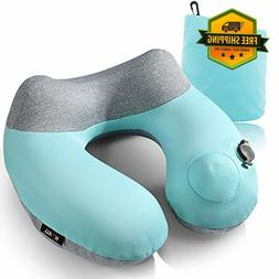 Inflatable Travel Pillow Kmall Compact Travel Pillows for Ai