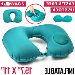 Inflatable Travel Pillow for Air Planes Neck Support Face Cr