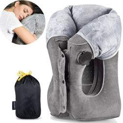Inflatable Travel Pillow Head Neck Foot Rest Toddler Airplan