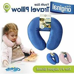 "Kids Travel Neck Pillow - Blue Home "" Kitchen"