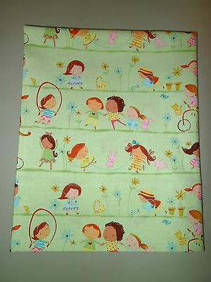 1-Girls Playing Outside Travel Size Pillow Pillowcase  17 x