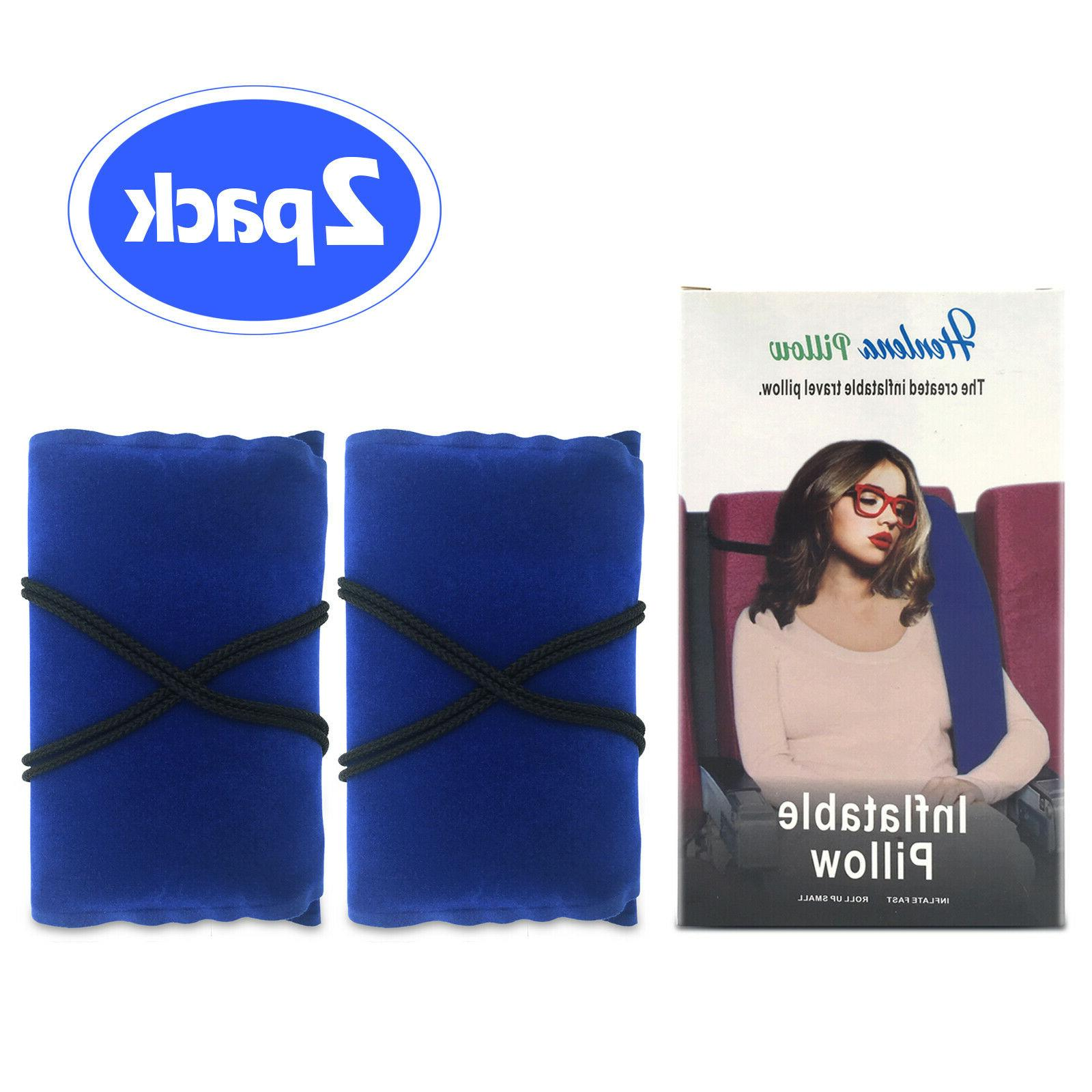 2PACK Inflatable Travel Comfortable Pillow Cars