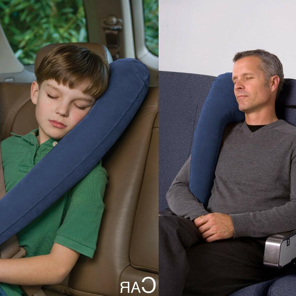 2pack blue inflatable travel comfortable pillow