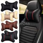 2X PU Leather Knitted Car Pillows Headrest Neck Cushion Supp