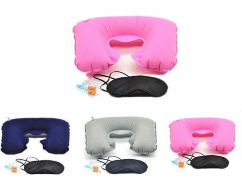 3 IN 1 Suit & Earplugs Portable Pillow &  Air Cushion Travel