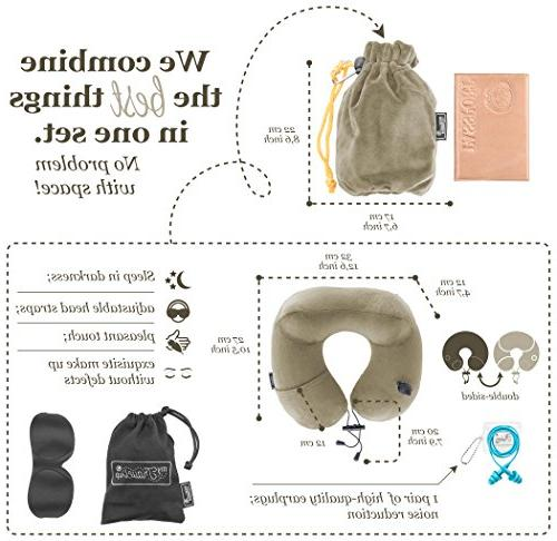 3in1 - NECK PILLOW with an 3D SLEEP MASK, pair of HIGH- EARPLUGS CARRY BAG – all the best things you –