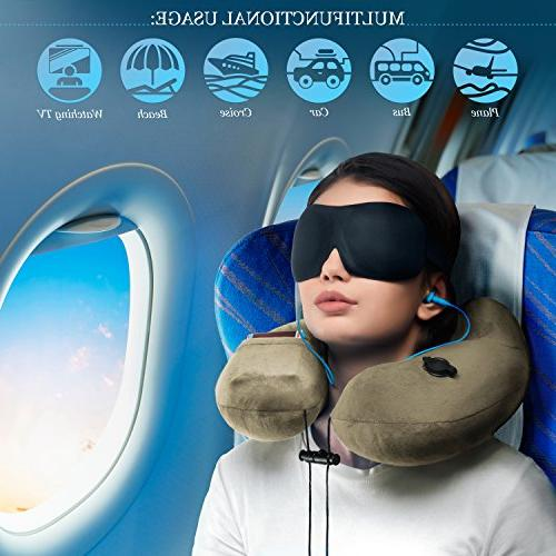 3in1 NECK PILLOW with 3D pair HIGH- EARPLUGS and a CARRY – all relax your mind you –