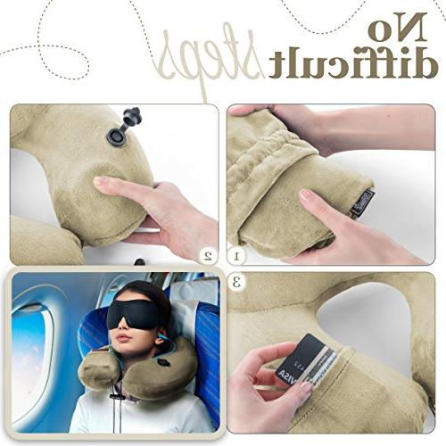 3in1 - PILLOW 3D MASK, pair of HIGH- EARPLUGS CARRY BAG – relax you – MyTravelUp