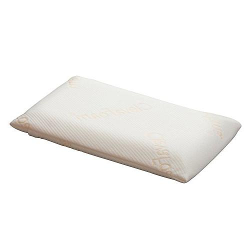 Clevamama Foam Toddler Pillow - Breathable, Hypoallergenic a
