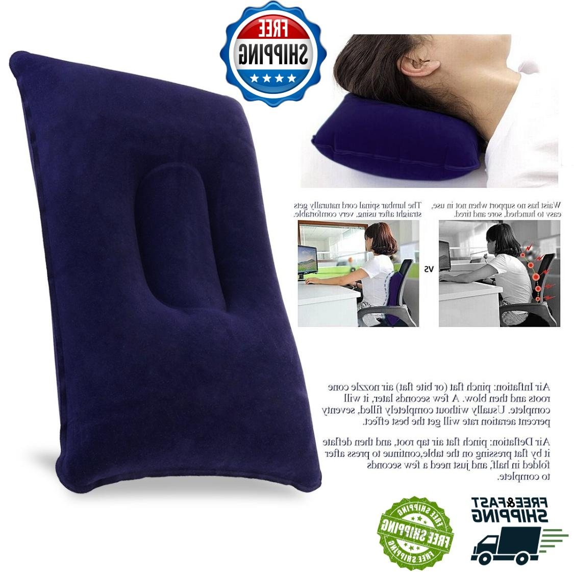 Inflatable Travel Camping Pillow Blow Up Pillows For Neck Ai