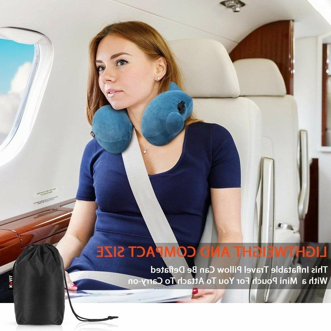 Kmall Inflatable Sleep Neck Travel Pillow Best Cervical Supe