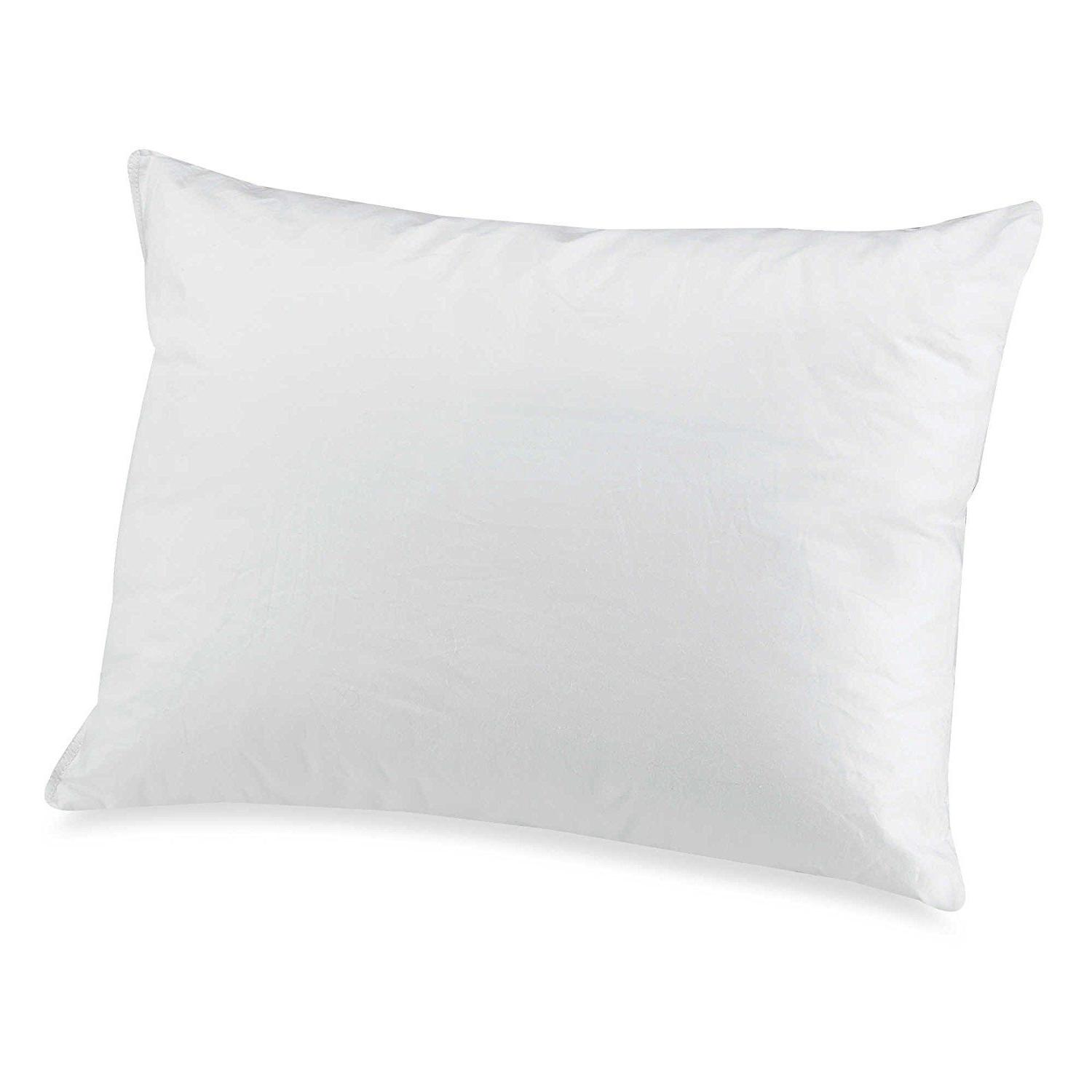 New Bedding Essentials Travel Pillow Protector Zipped 300 Th