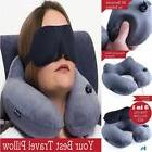 Set 3 In 1 Travel Pillow For Airplanes Inflatable Pillows Ne