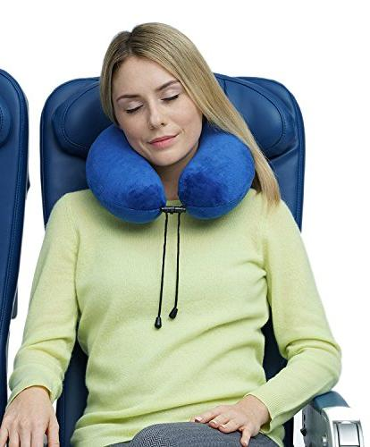 Travelrest - Memory Foam Pillow - Cover - Attaches Luggage Perfectly To Neck And Head