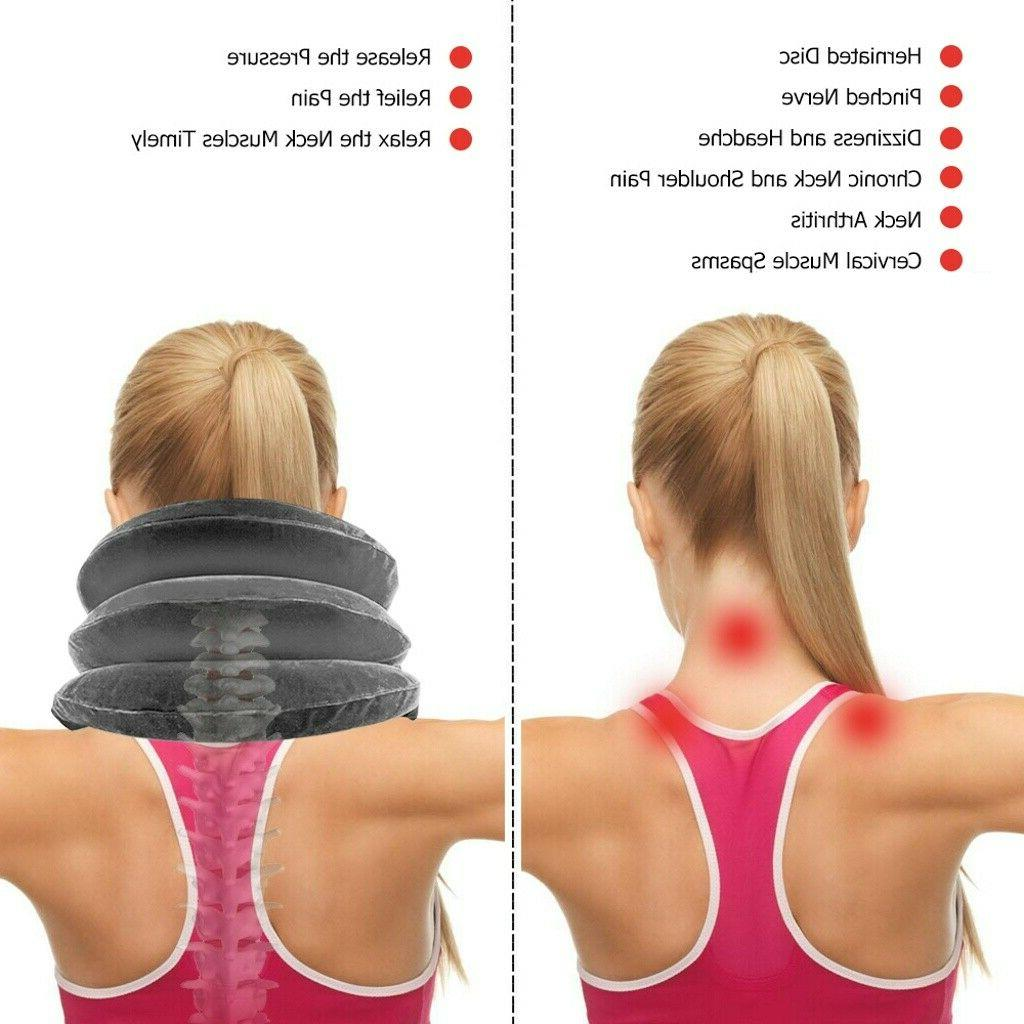Air Traction Cervical Neck Head Support Brace