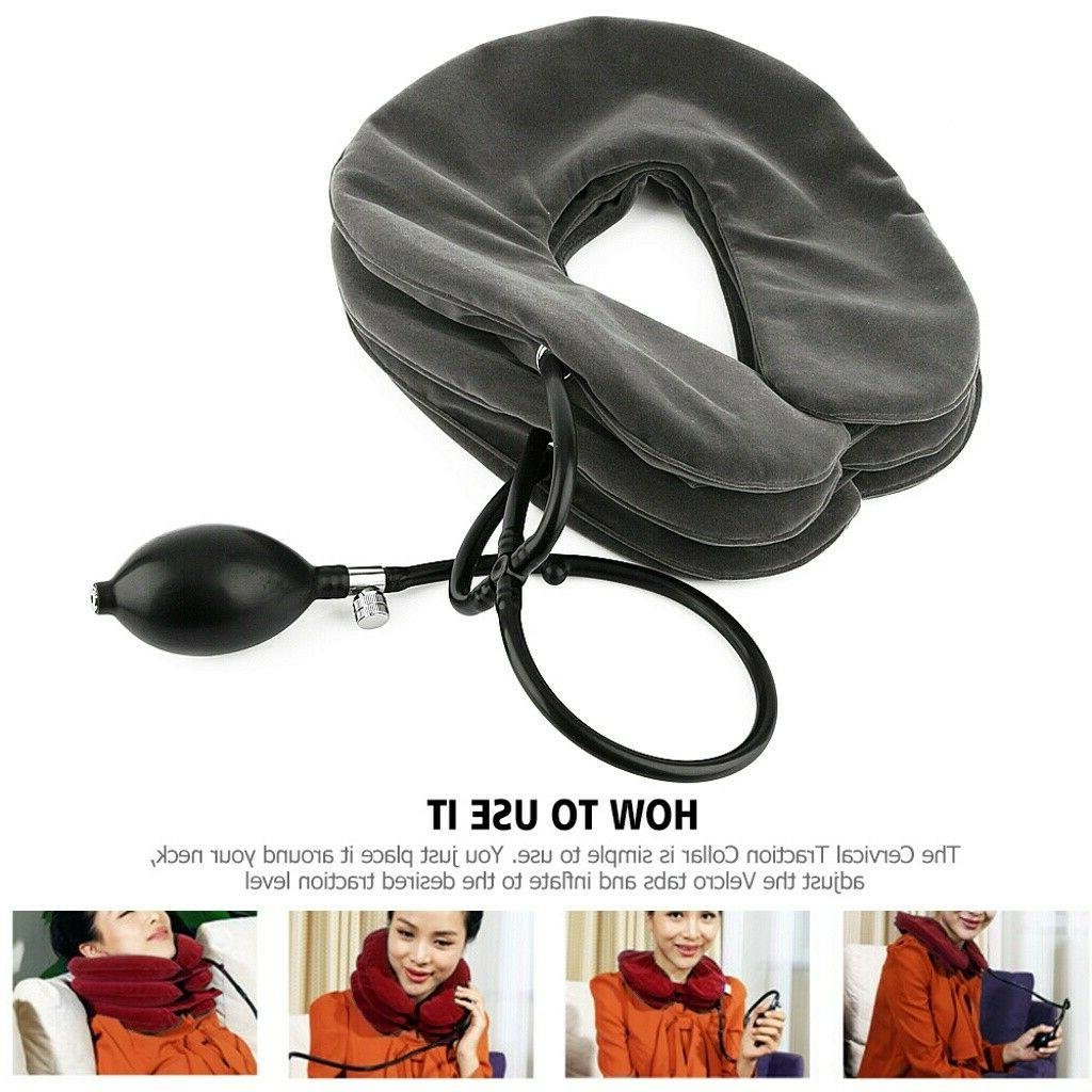 Air Traction Inflatable Neck Support
