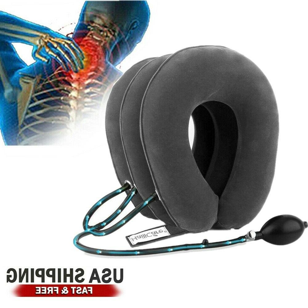 Air Traction Inflatable Neck Pain Support Brace Massager