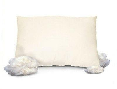 ALL NATURAL Wool Pillow w/ Organic Cotton Cover - ALL SIZES