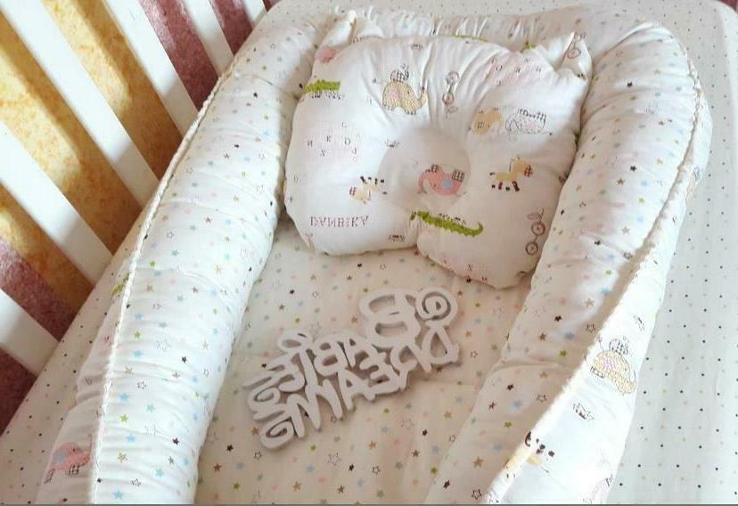 Baby Nursery Bedside Sleeper Lounger Travel Bed Cot Pillow