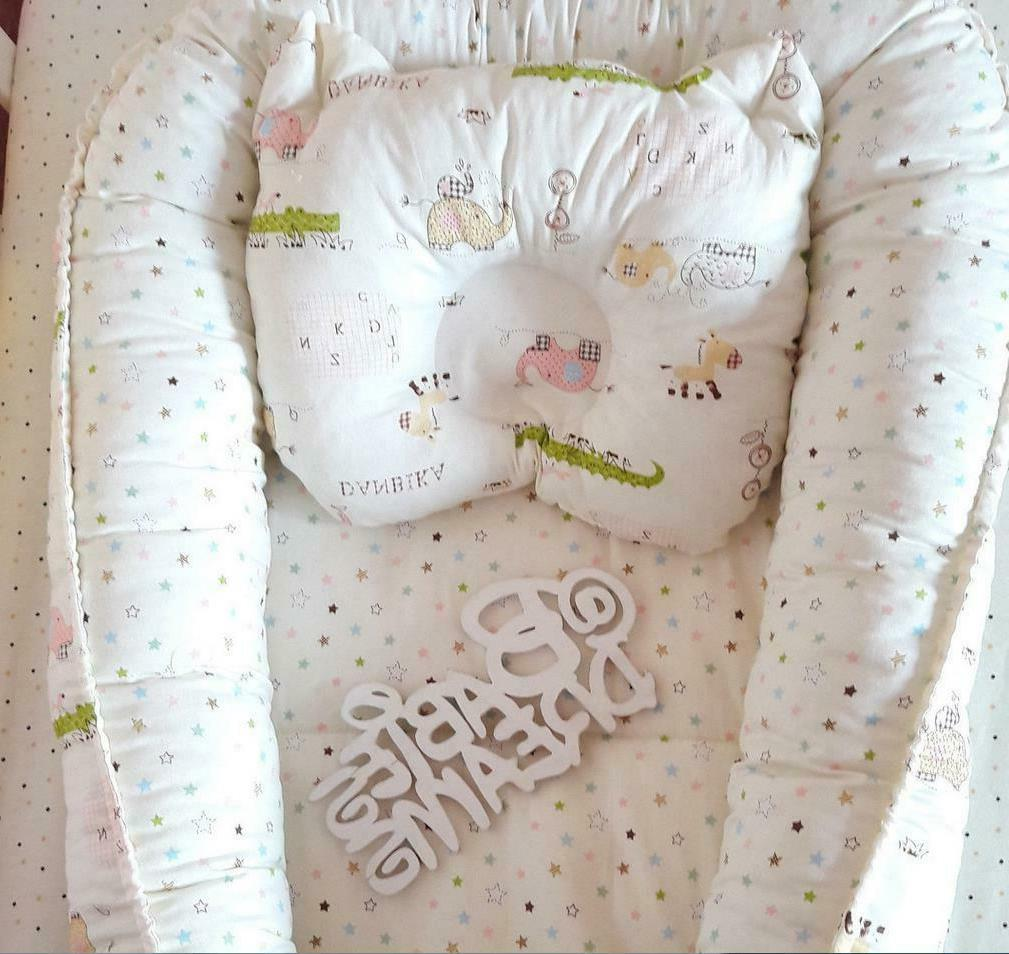 Baby Bedside Sleeper Bed Unisex Cot Pillow