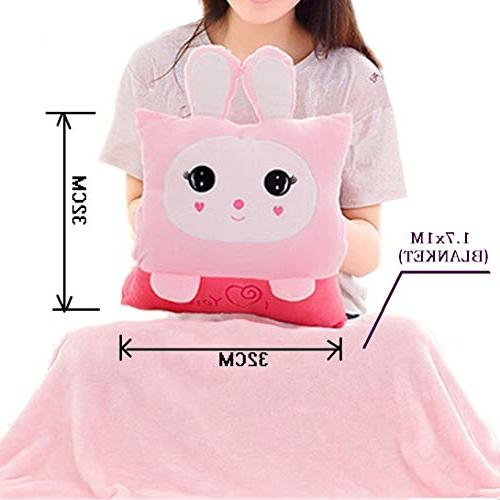 Pillow Blanket Kids Travel Pillow Blanket in Throw Pillows For Sleeping For Set Office Car Conditioned Nap Time