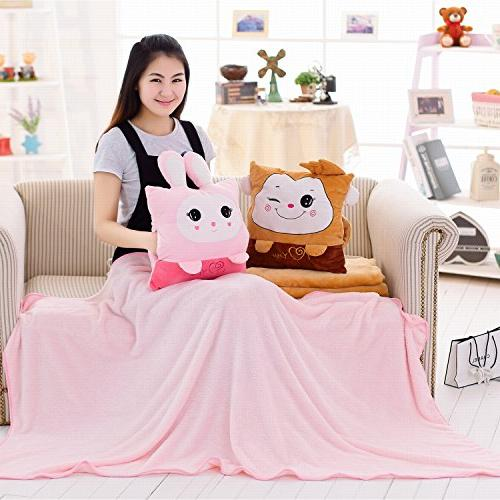Pillow Kids Travel Pillow Blanket in Warm Throw Pillows Pillow For Sleeping Cushion For Set For Car Air Conditioned Nap