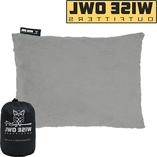 camping pillow compressible foam pillows
