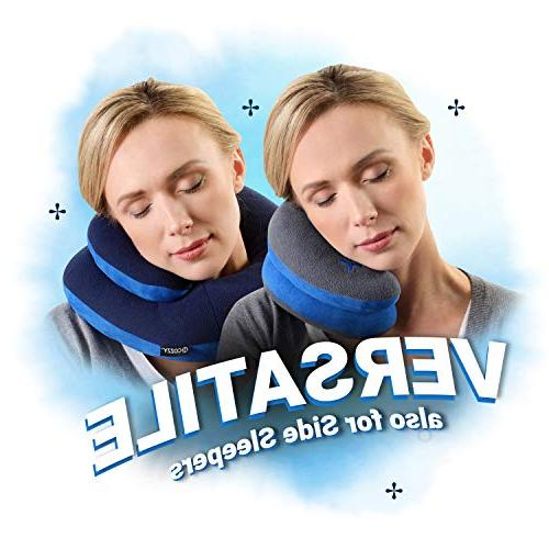 BCOZZY Chin Pillow Supports the Head in any sitting Soft Multiple ways to use. Patented.