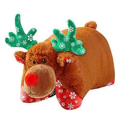 """Pillow Pets Christmas Holly Reindeer - 16"""" Limited Edition S"""