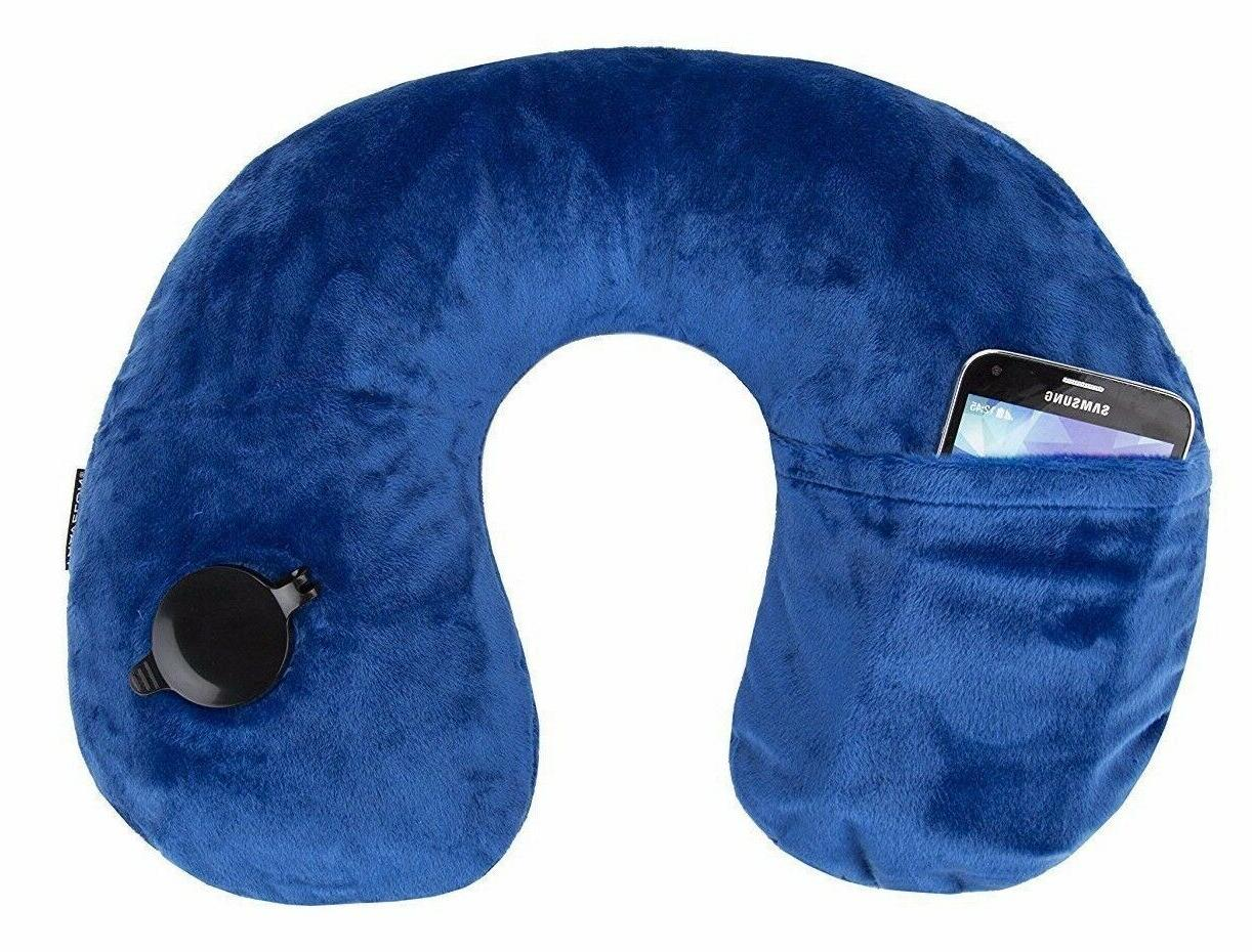 Travelon Deluxe Inflatable Travel Pillow Easy Inflate Phone
