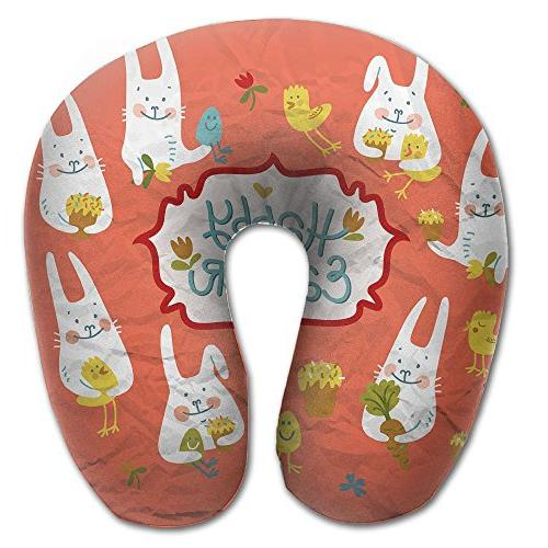 easter day u shaped pillow