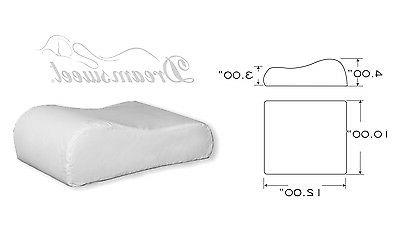 EXTRA FIRM Contour Compact Travel Bed Pillow, Dreamsweet A4X