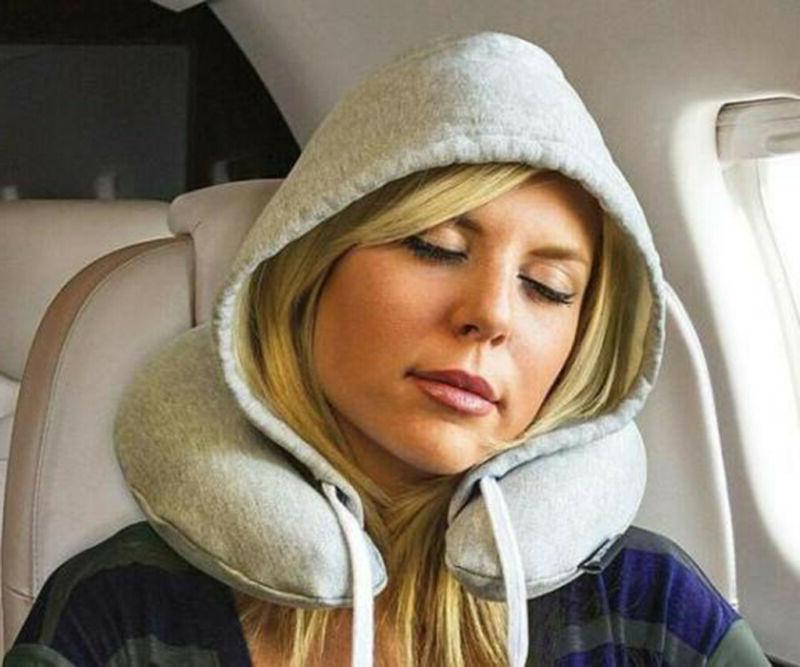 NEW Travel Pillow Soft Hooded Travel Pillows Support