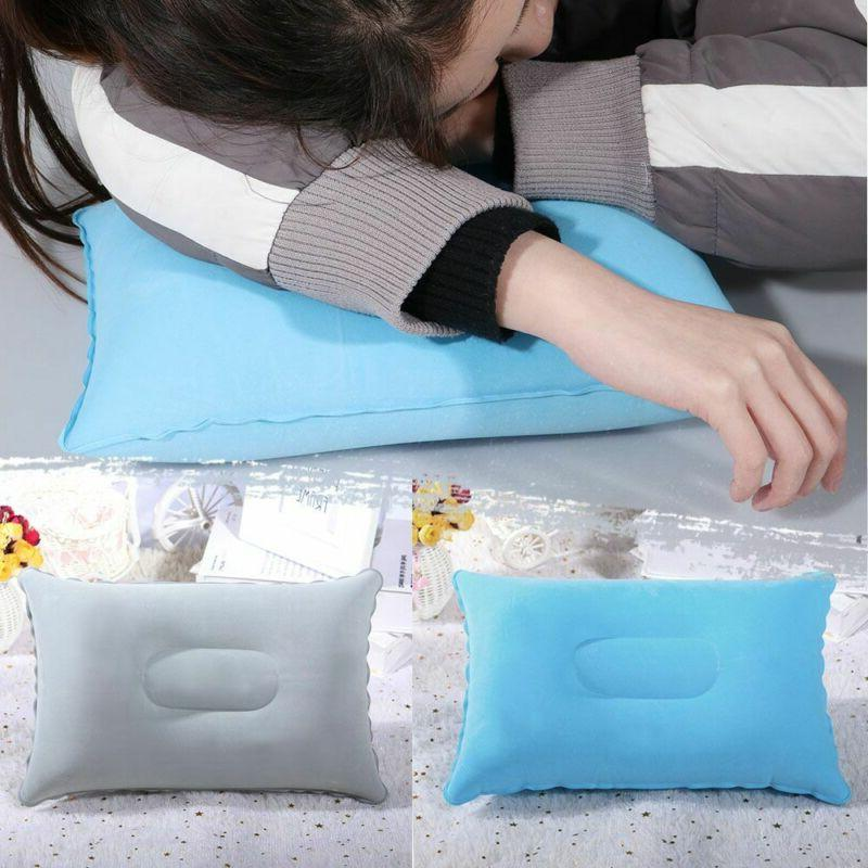 sided plane hotel folding air inflatable pillow