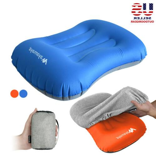 inflatable air camping travel pillow ultralight portable