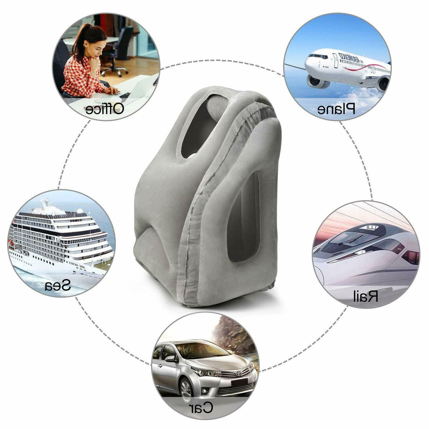 Inflatable Air Airplane Neck Cushion Rest New