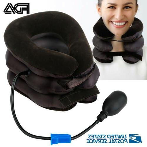Inflatable Pillow Head Traction Pain Therapy Travel