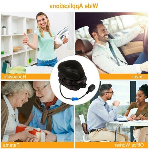 Inflatable Pillow Head Traction Pain Relief Therapy Travel