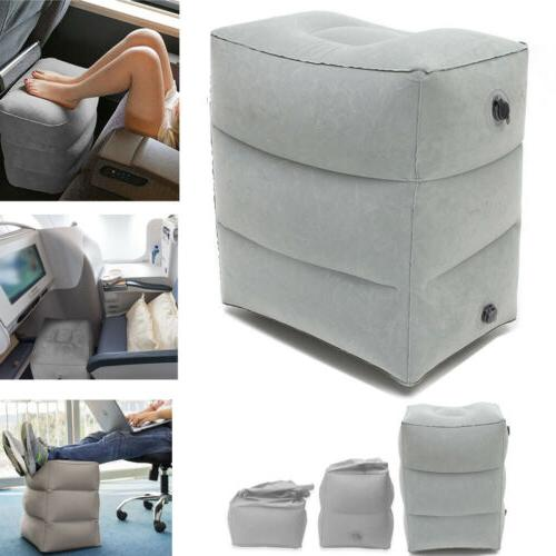 Inflatable Portable Travel Footrest Leg Foot Cushion