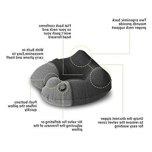 KMALL Inflatable Travel Pillows for Airplanes With Super Pillow