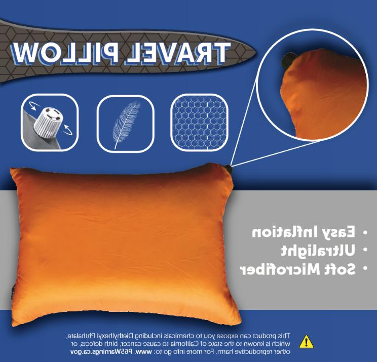 INFLATABLE Includes stuff sack. Great camping, travel,