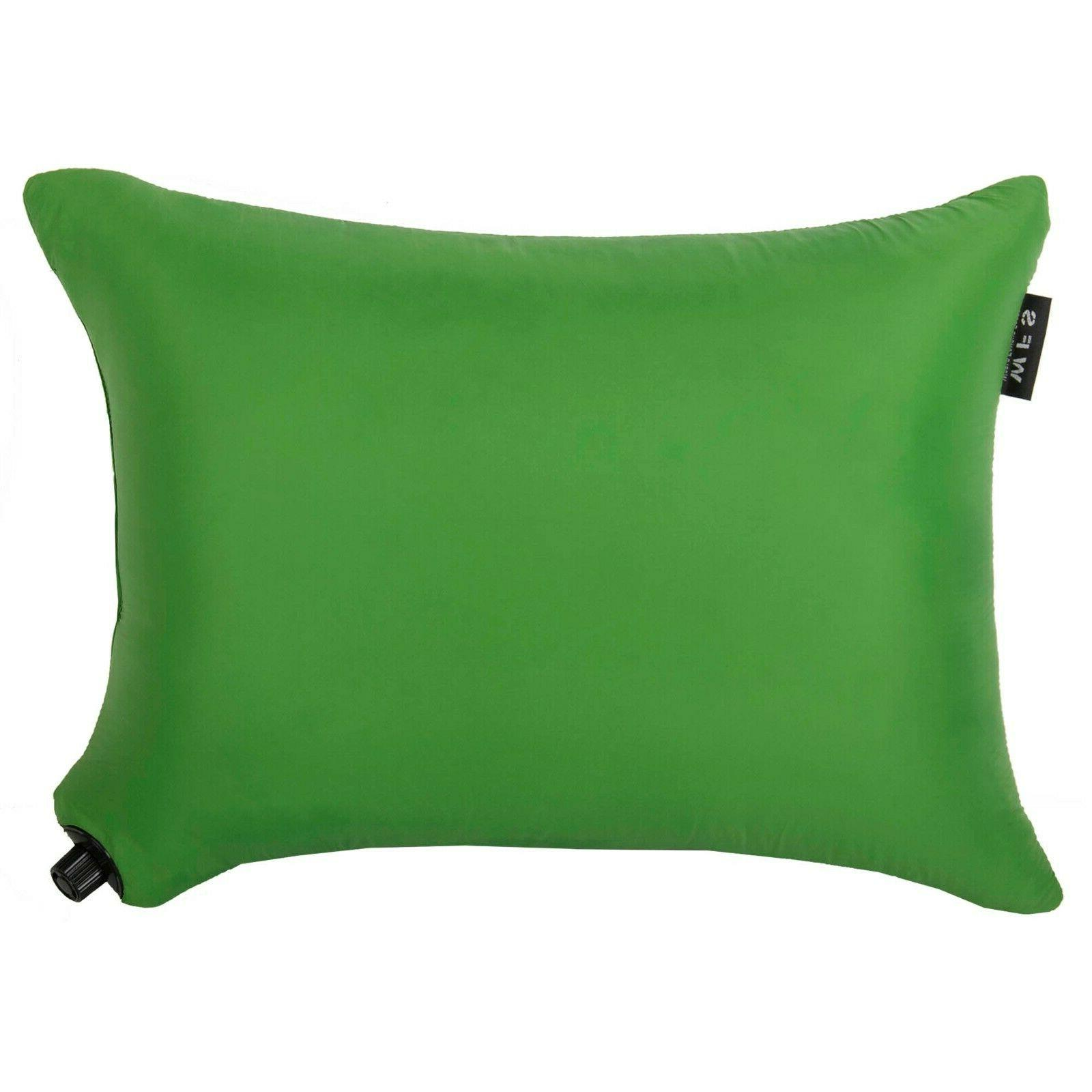 inflatable pillow includes compact stuff sack great