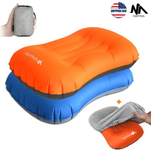 inflatable portable camping pillow cover set ultralight