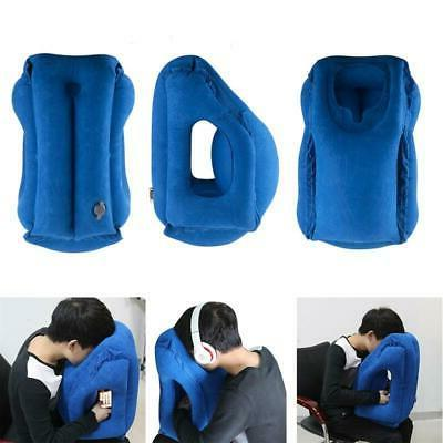 inflatable travel pillow for tray table