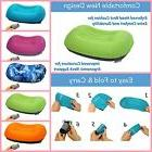 inflatable travel pillow inflating camping pillows neck
