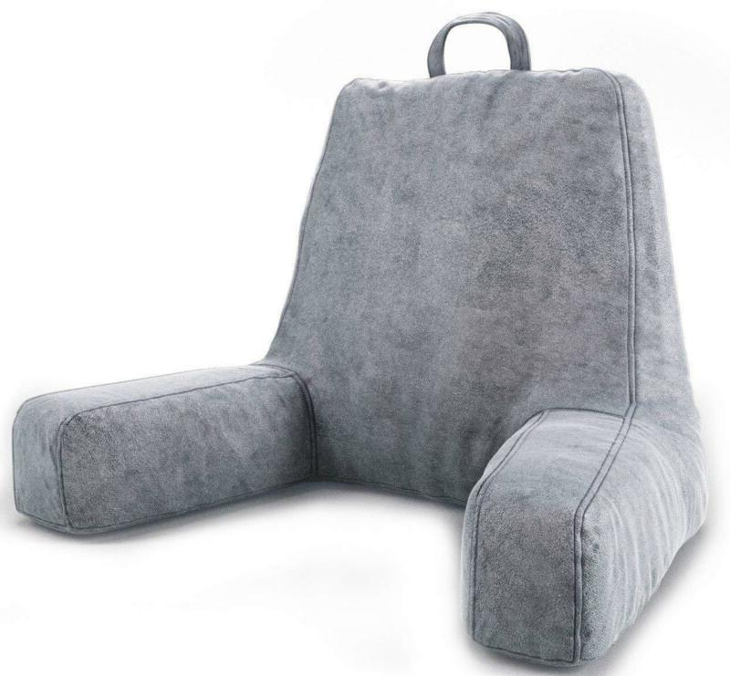 large travel bed rest pillow back arm
