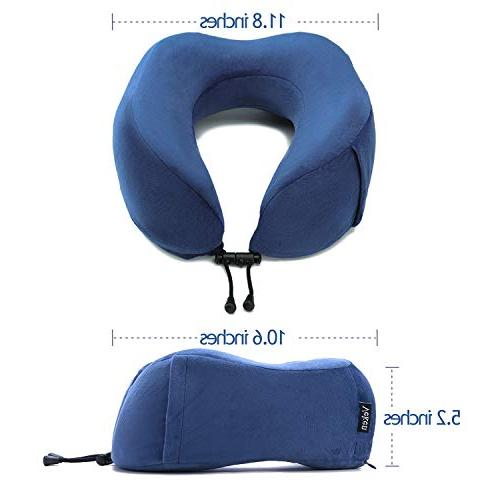 Veken Memory U Neck Support Pillow Travel with Sleeping Mask and Earplugs,
