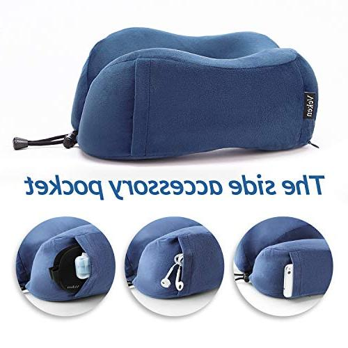 Veken Foldable U Chin Support Travel with Mask Earplugs,