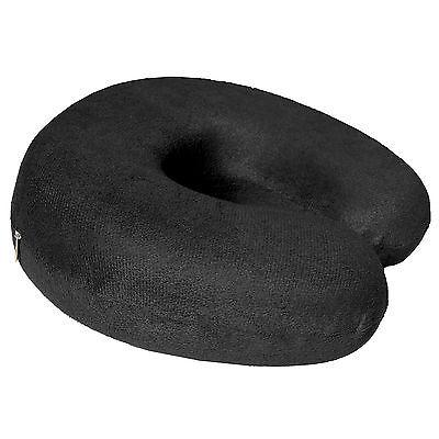 Memory Shaped Travel Support Back Cushion Black